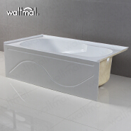 Popular Used In Home 2018 Cheap Alcove Vertical Bathtub With Reversible Drain