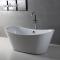 67 Inch Modern Luxury Double Deep Acrylic Deep Freestanding Bathtub