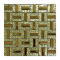 Wholesale price 300X300mm luxury India style golden color glass mosaic tiles for wall decor