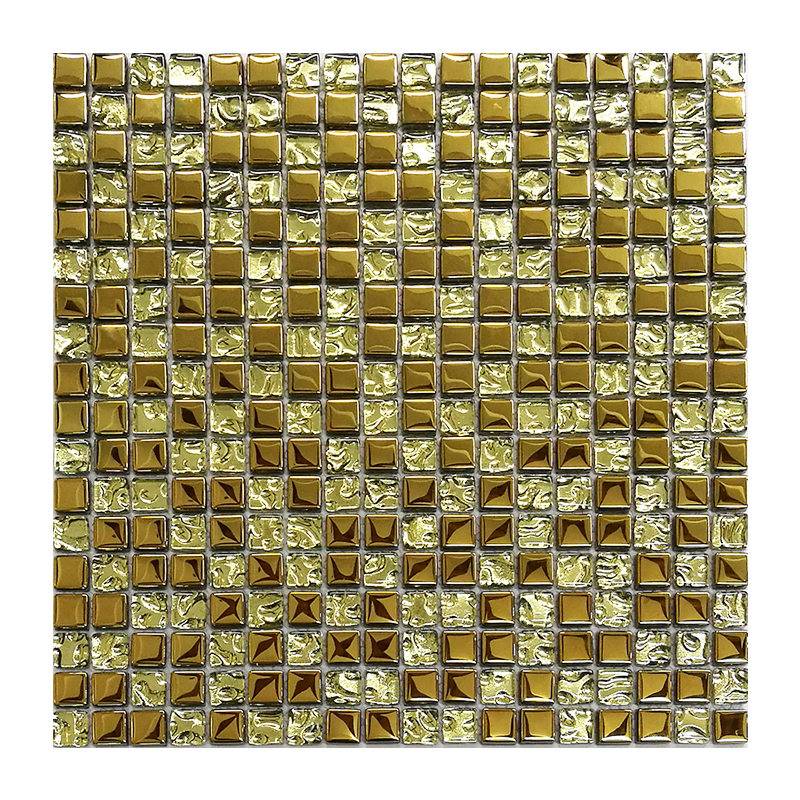 Royal style wholesale price rose gold mosaic and silver glass mosaic tile for villa bedroom decoration