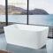 cocoblla Bathtub with solid surface comfort bathtub Modern bathroom artificial stone