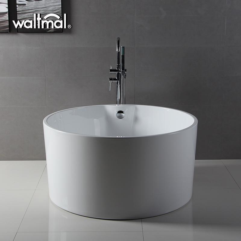 cUPC Ningbo Waltmal 45 Inch Acrylic Round Small Freestanding bathtub