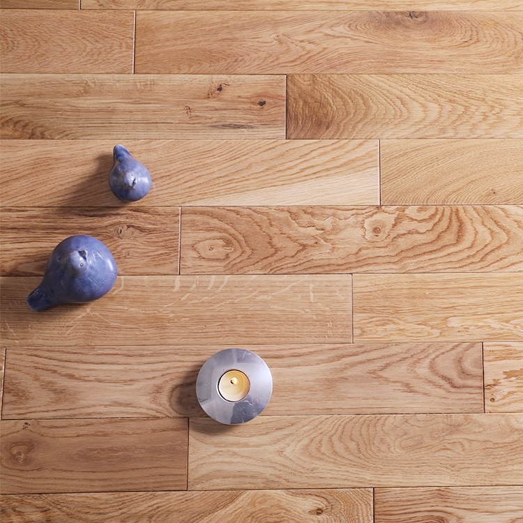 18mm Solid Hardwood UV Lacquered Smooth White Oak Wood Floor
