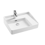 White Bathroom Toilet Ceramic Bowl Sinks Set Wash Vessel Basin With Stand