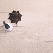 European Oak Scratch Proof Hardwood Click and Lock Flooring Solid 5 1/4 Inch