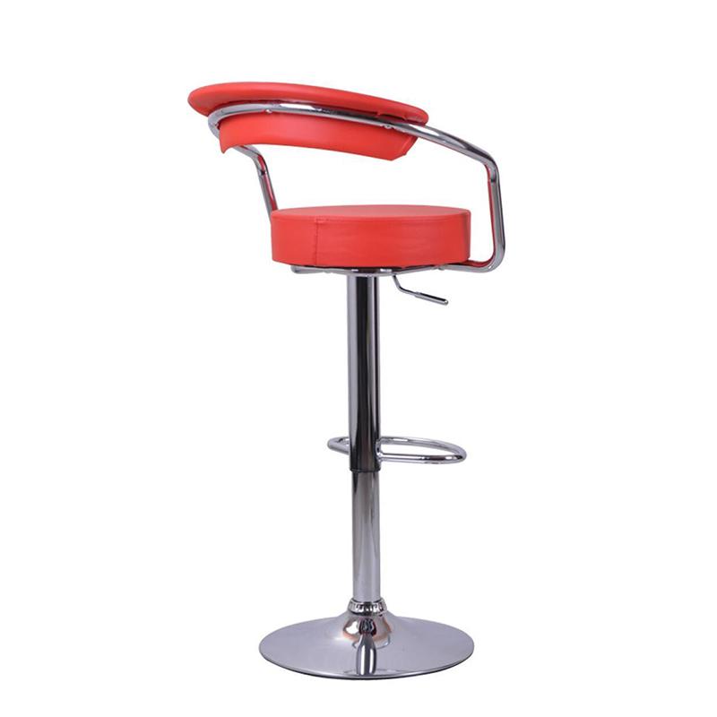 cheap hot sale adjustable leather bar stool chair with armrest