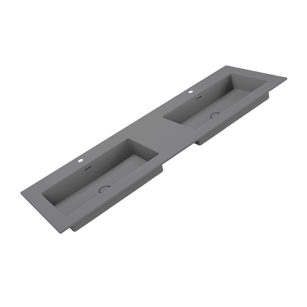 X-FPC02-006 Long sink with double sinks bathroom sink bathroom wash basin