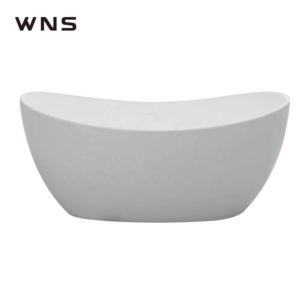 Five stars hotel standard New egg oval shaped acrylic resin marble bath tub solid surface artificial stone bathroom bathtub