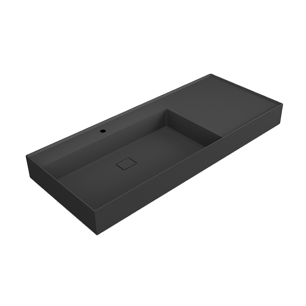 X-FPE02 Custom-sized ceramic solid surface integrated sink seamless joint wash basin