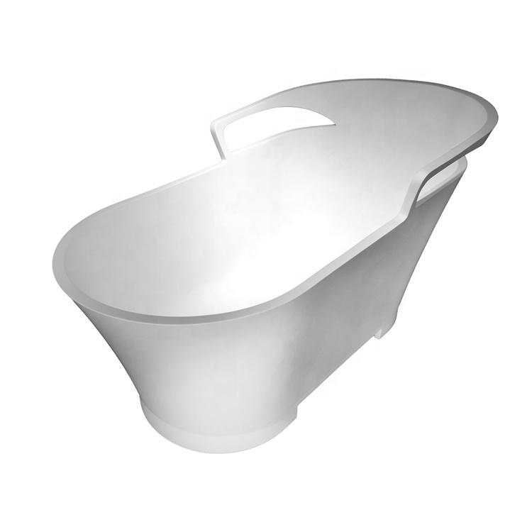 Engineering custom-made free-standing natural stone bathtub bathroom bath tub