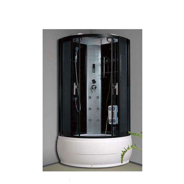 Oval Sector Shape Sex Bathroom Cabin With Shower Faucet Sliding Door Shower Room