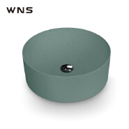 artificial stone round basins sink acrylic matt surface lavabo bathroom integrated washbasin