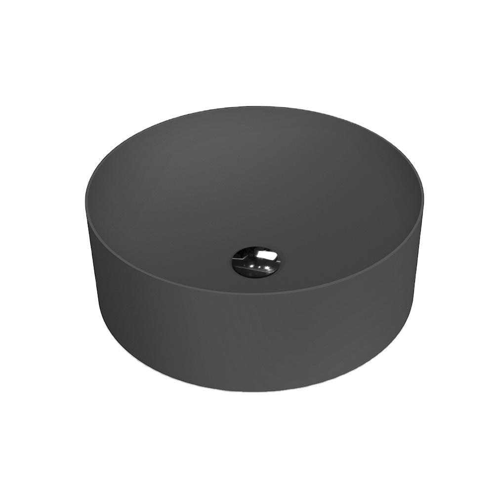 X-YPH02 Black artificial stone countertop basin round wash basin bathroom sink