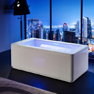 PR-8806 Rectangular Hot Tubs LED Light Waterfall Bathtub Whirlpool Deep Soaking Bath