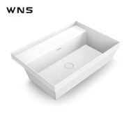 X-YPH02-003 European style best fashion sanitaray ware above mount bathroom cabinet vanity top wash basin 800mm size with CE