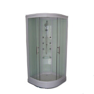 Round Corner Glass Shower Cabin Enclosure Ready Made Bathroom