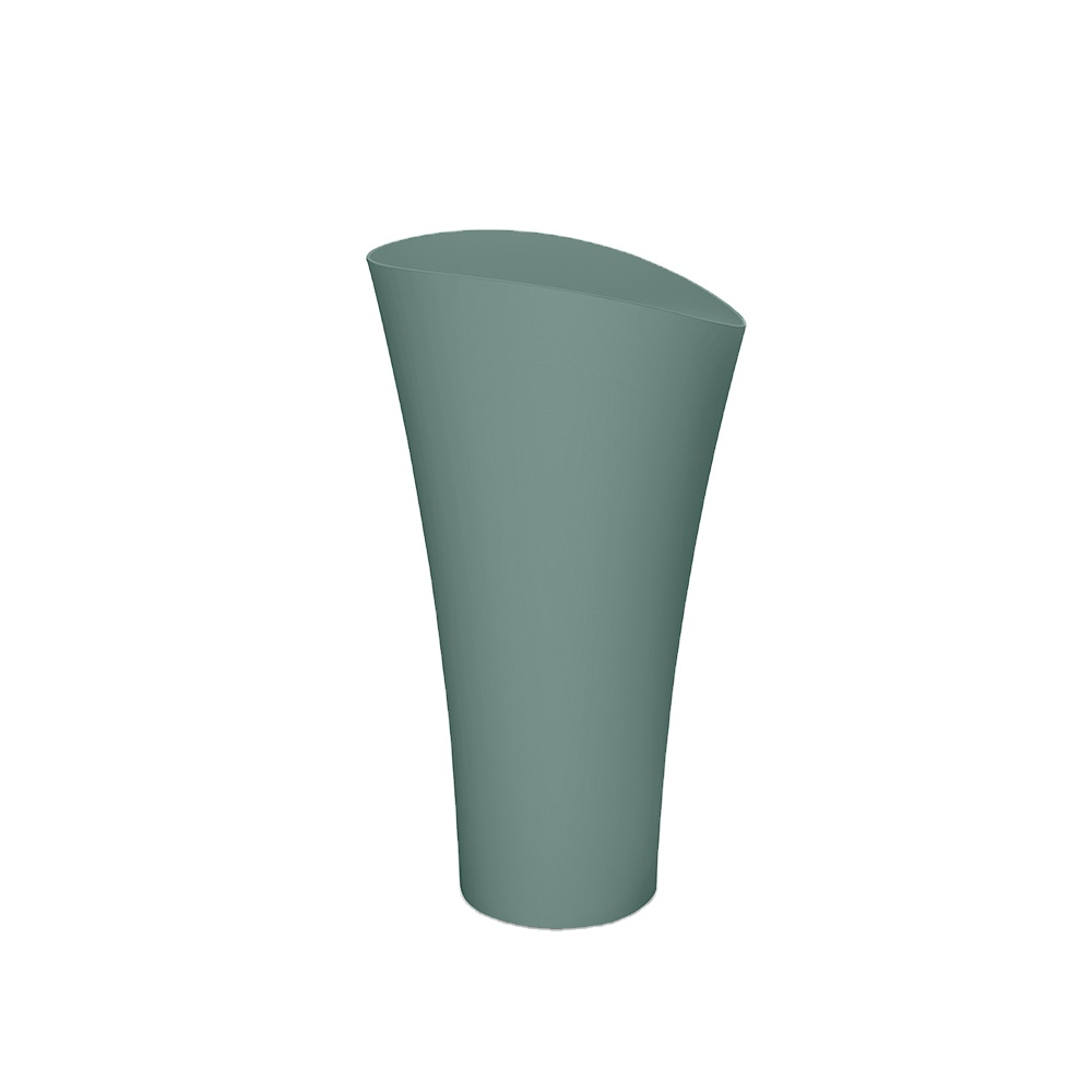 reestanding wash basin with cylindrical solid surface