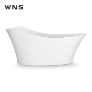X-LGN01 factory direct sell Nordic style light luxury adult new design freestanding acrylic artificial stone large bathtub