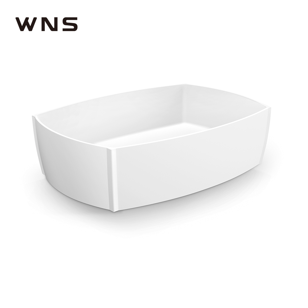Bathroom cabinet sink artificial stone basin solid surface basin for villa apartment