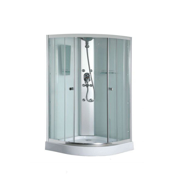 bathroom shower enclosure with toilet