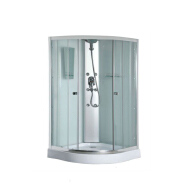 bathroom shower enclosure with toilet