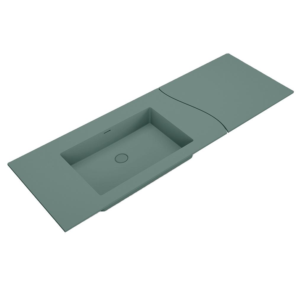 X-FPC01 Custom size artificial stone sanitary ware toilet bathroom double basin stone bathroom sink