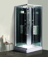 900x900x1950mm Big Size Frame Black Back Simple Glass Shower Cabin