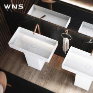 modern design freestanding artificial stone wash basin with matt surface for five star hotel