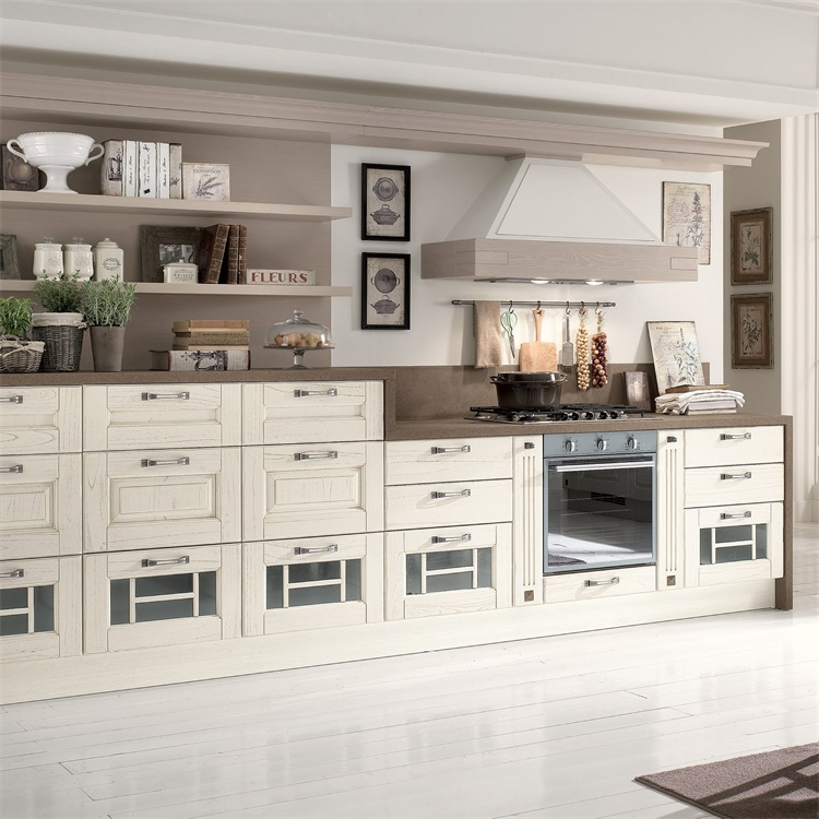 Export To America Project Contemporary L Shaped White Display Portable Kitchen Cabinets