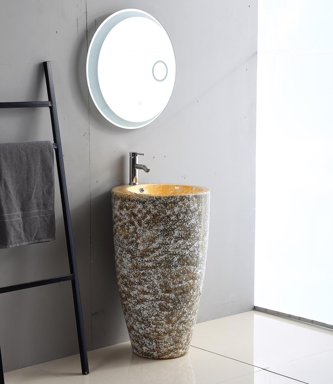 1110cd Factory direct Ceramic Sink Free Standing Bathroom color Pedestal Basin