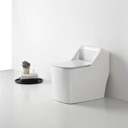 8802  brand new square shape siphonic s-trap bathroom one-piece toilet bowl