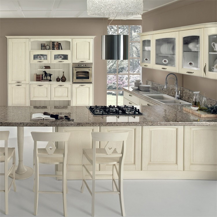 Superior Materials Antique Design Marble Open Style Outdoor Kitchen Cabinets For Sale