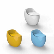 8801c brand new egg-shape colored toilet wc one-piece siphonic hotel toilet commode