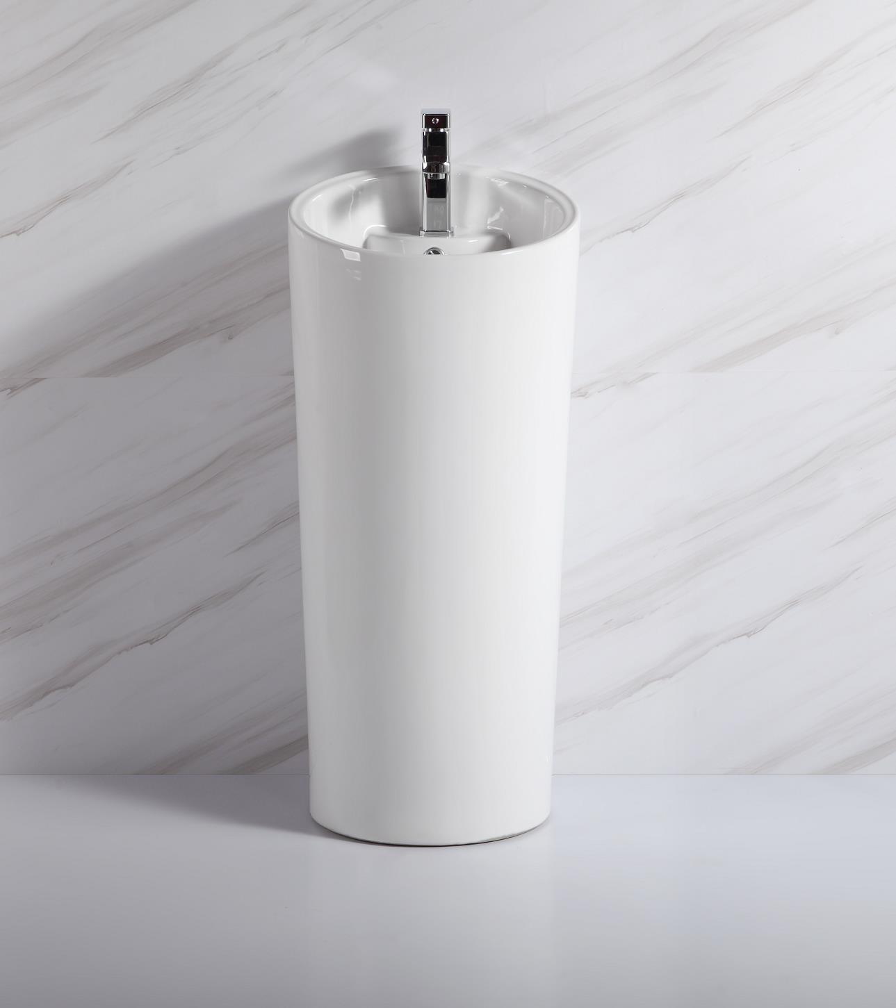 1125 factory direct cheap color black pedestal basin standing bathroom wash sink