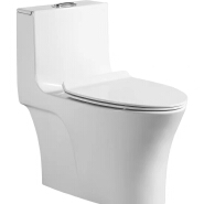 Modern design ceramic siphon flushing one piece toilet wc