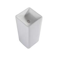 1107 Fashion designs pedestal ceramic type wash basin sink for hotel dining room
