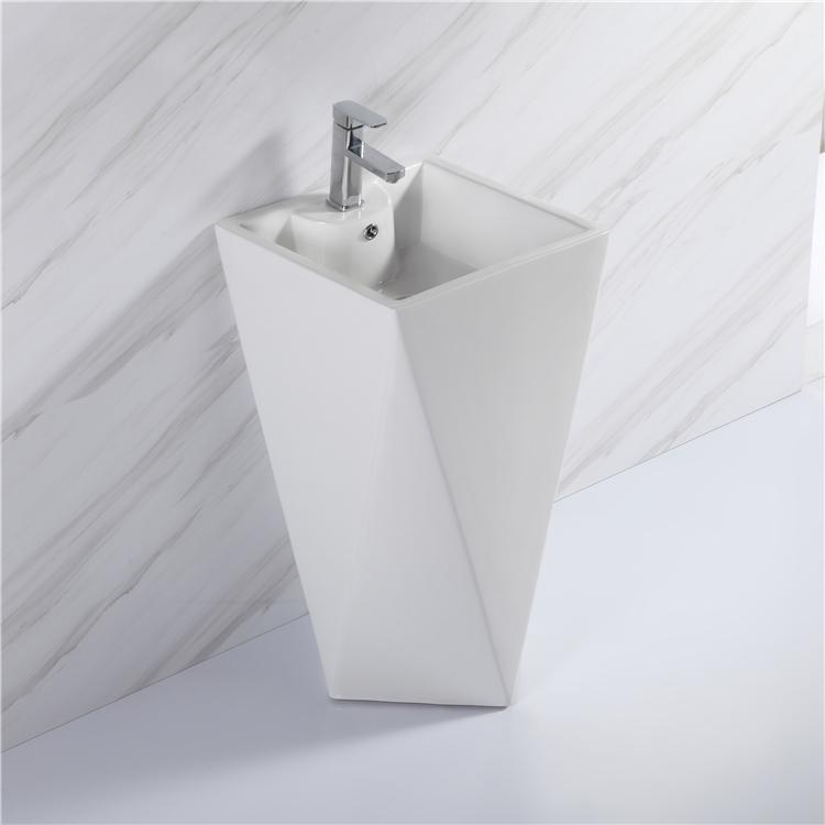 1101 hot sale bathroom luxury one piece ceramic pedestal basin sink basin