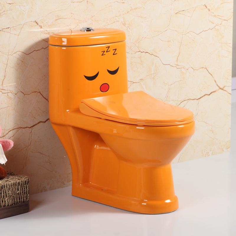 hot sale ceramic colored toilet bowl one piece wc toilet for children baby lavatory