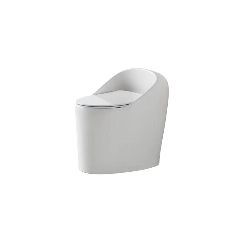 8803 brand new egg shape patent design dual-flush ceramic one piece toilet for hotel