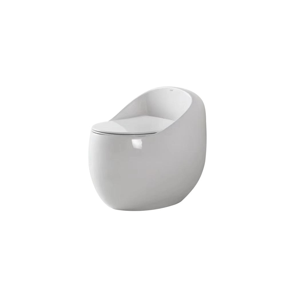 brand new egg-shape wc one-piece siphonic hotel toilet commode