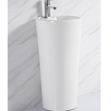 1128 factory direct cheap cylinder pedestal basin sink standing bathroom wash sink