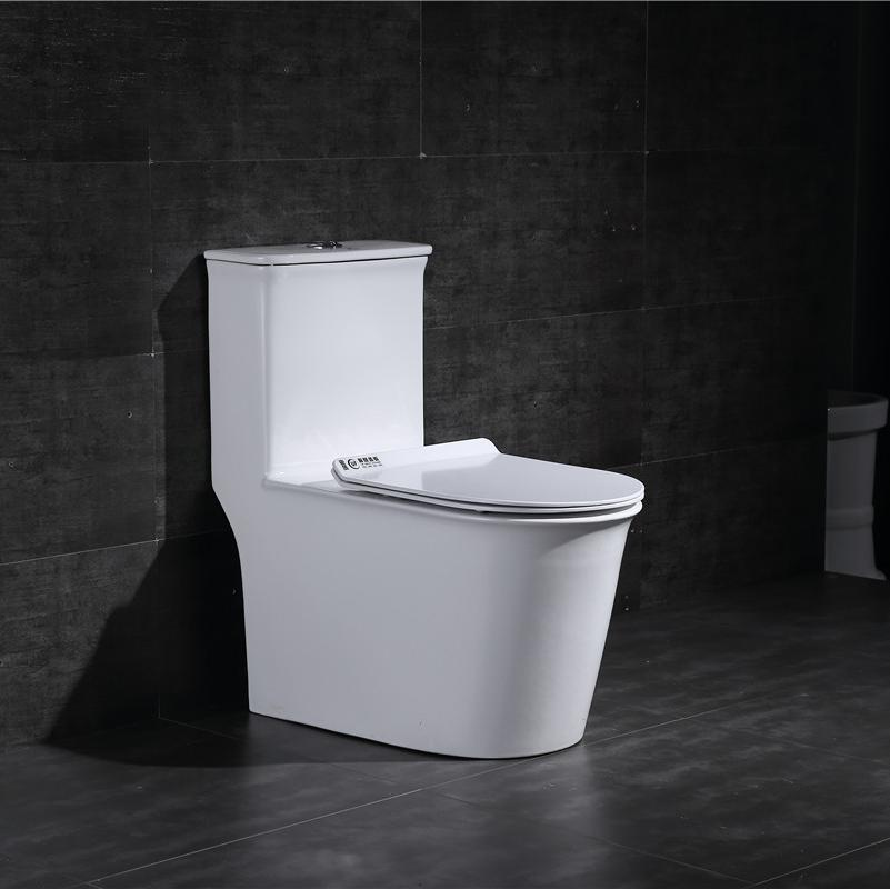 Water Efficiency Siphonic S trap One Piece Toilet