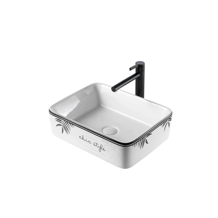 5012A Cheap wholesale home hotel ceramic sink bathroom art ceram wash pedestal basin