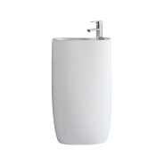 1103 Hot sale wholesale family bathroom ceramic sink white wash hand basin with pedestal