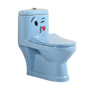 hot sale color toilet ceramic one piece baby toilet p-trap for children lavatory