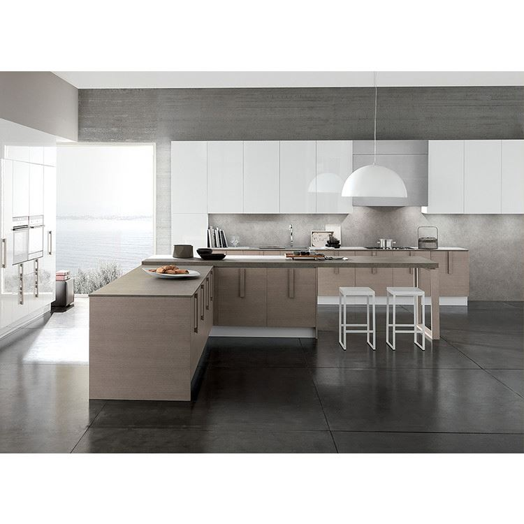 Black High Gloss Modern Lacquer Paint Designs Kitchen Cabinets
