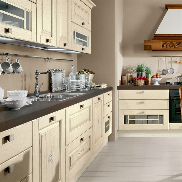 High Quality Wall Hanging Cabinet Shelves Solid Wood Modern Kitchen Cabinet Sale