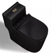 8804b wholesale bathroom toilet wc one-piece siphonic matt black toilet commode