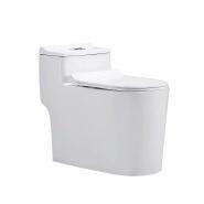 Modern short water tank ceramic siphon flushing one piece toilet wc