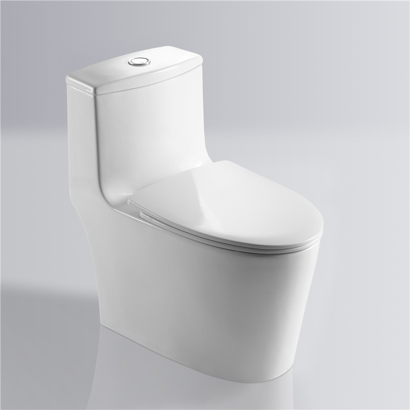 China factory one piece water closet bathroom WC European dual flush high volume siphonic flush toilet